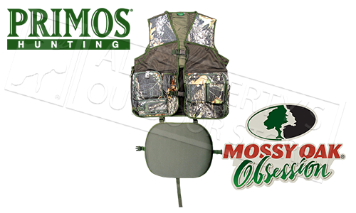 Primos Gobbler Vest for Hunting with Seat, L/XL Mossy Oak Obsession Camo #6560