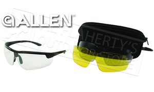Allen Ion Ballistic Shooting Glasses, 3 Lens Set #22777