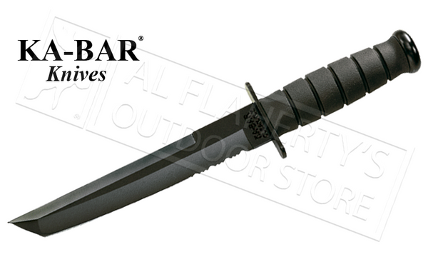 "KA-BAR Black KA-BAR Tanto, 8"" Fixed Blade with Serrations #1245"