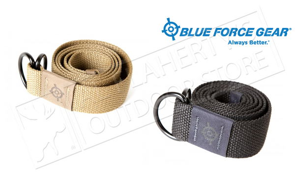 "Blue Force Gear BFG Webb Belt - Large 45"", Black or Coyote Brown #BT-150-001-LG"