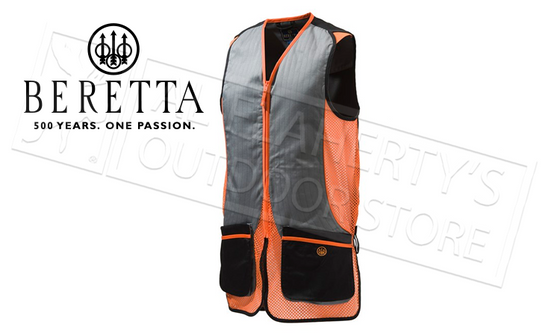Benchmade Silver Pigeon Shooting Vest, Black and Orange #GT031021130945