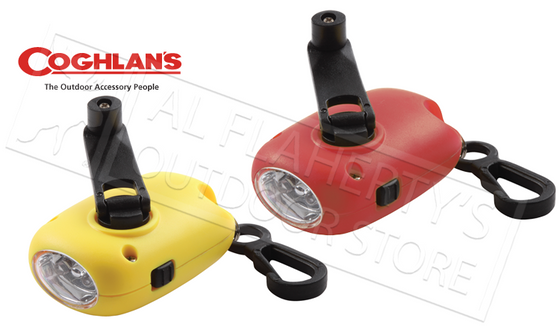 Coghlan's Dynamo Flashlights, Compact Red or Yellow #1203
