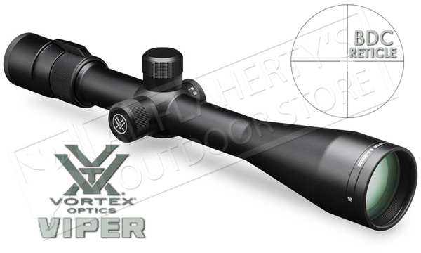 Vortex Viper Riflescope, 6.5-20x50 PA with Dead-Hold BDC Reticle #VPR-M-06BDC