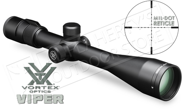 Vortex Viper Riflescope, 6.5-20x50 PA with Mil-Dot Reticle #VPR-M-06MD