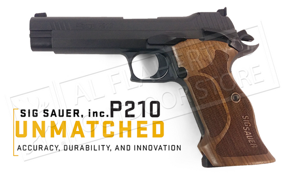 SIG Sauer P210 Target SAO Pistol with Adjustable Sights and Walnut Grips #210A-9-TGT