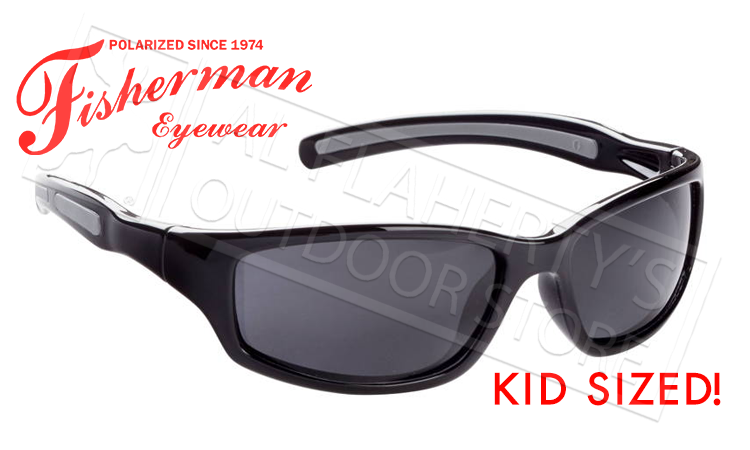 Fisherman Eyewear Bluegill Kids Polarized Sunglasses, Black with Grey Lens #50543001