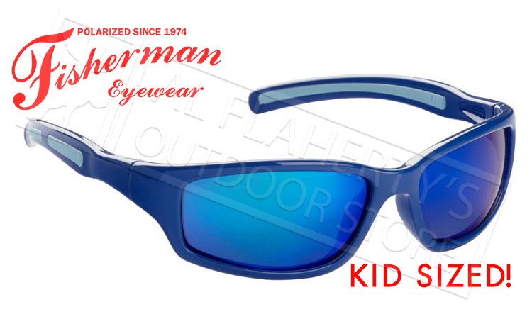 Fisherman Eyewear Bluegill Kids Polarized Sunglasses, Royal Blue with Blue Mirror Lens #50543431