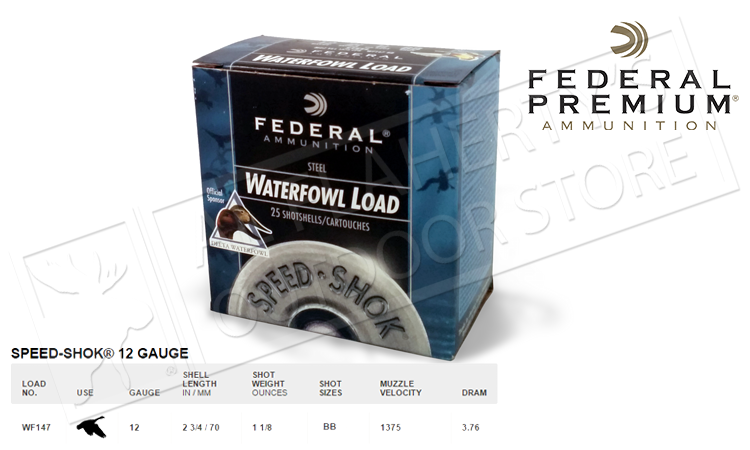 "#WF147 Federal Speed-Shok Steel, #BB Shot 2-3/4"", Box of 25"