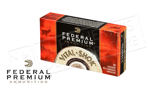 Federal Premium 270 WIN Vital Shok, Trophy Bonded Tip 140 Grain Box of 20 #P270TT3