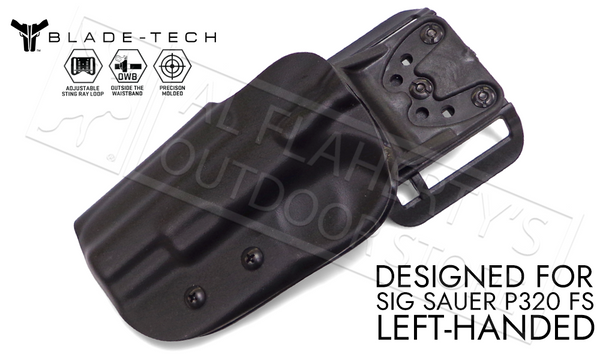 Blade-Tech Holster - OWB - SIG P320 LH, D/OS Stingray Loop #HOLX000842984774