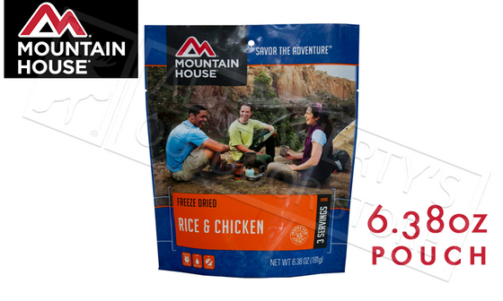 Mountain House Pouch, Rice and Chicken, 6.38 oz #53105
