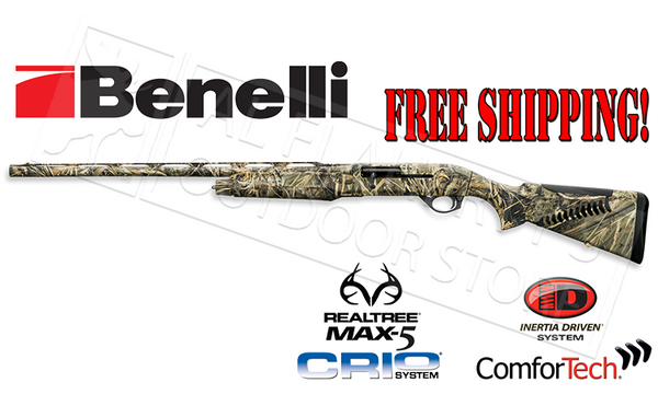 Benelli M2 Field Left Hand Max5 Camo with Comfortech & Free Shipping #1112