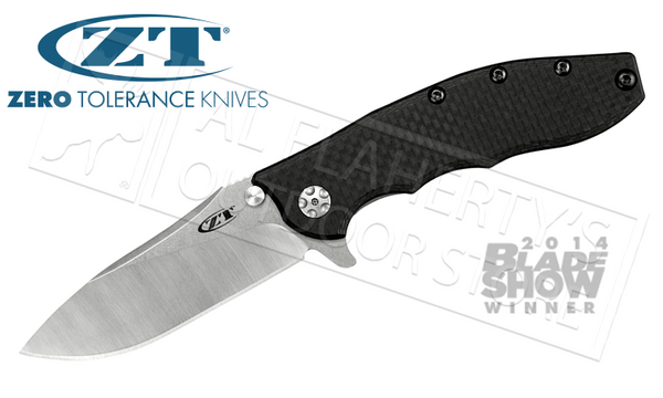 Zero Tolerance 0562 Rick Hinderer Folding Knife with Carbon Fiber #0562CF