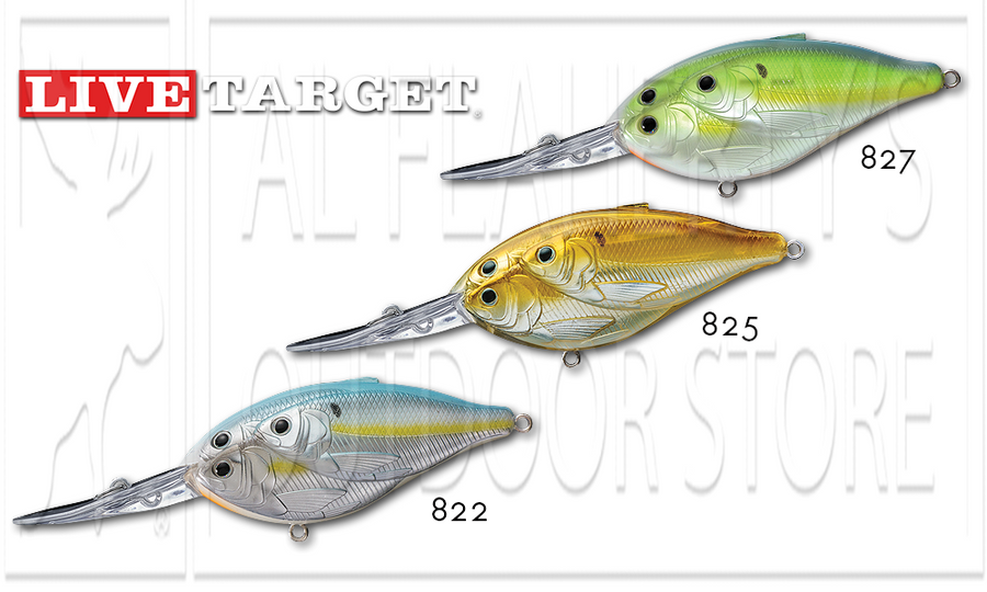 "LiveTarget Threadfin Shad deep Dive Magnum Crankbait, 2-3/4"" 5/8 oz. #TDD70D"