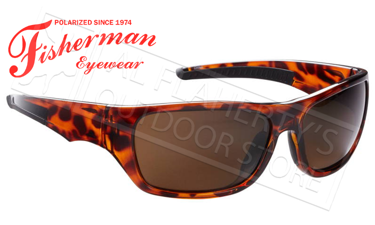 Fisherman Eyewear Backwater Polarized Sunglasses, Tortoise with Brown Lens #50510202