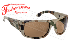 Fisherman Eyewear Everglade Polarized Sunglasses, Digital Terrain with Brown Lens #50490102