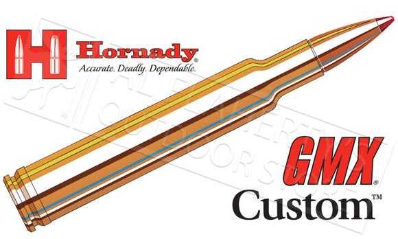 Hornady #81183 300 WBY Custom, GMX 165 Grain Box of 20
