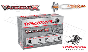 "#X123VBB - Winchester Varmint X Shells, 3"" #BB  Shot, Box of 10"
