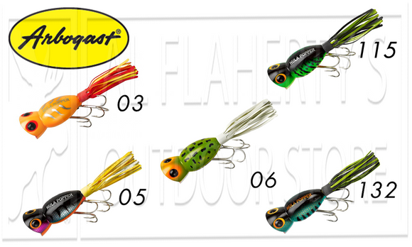 Arbogast Hula Poppers, 5/8 oz. Various Patterns #750