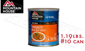 Mountain House Can, Spaghetti with Meat Sauce, 10 Servings, 1.19lbs #30108