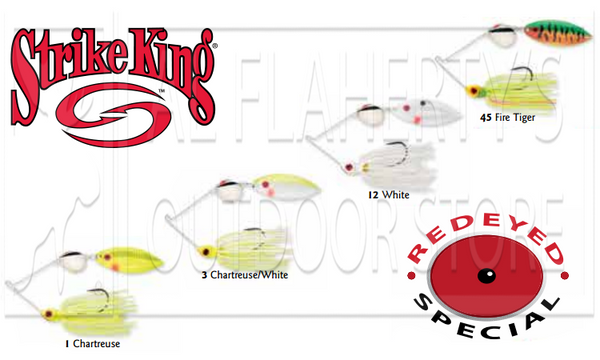Strike King REYE38CW Redeyed Special SpinnerBaits, 3/8 oz. Various Patterns