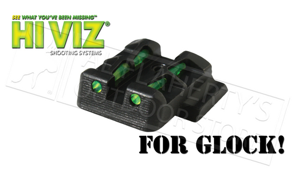 HiViz #GLLW15 Litewave Interchangeable Rear Sight for Glock 9mm 40S&W .357Sig