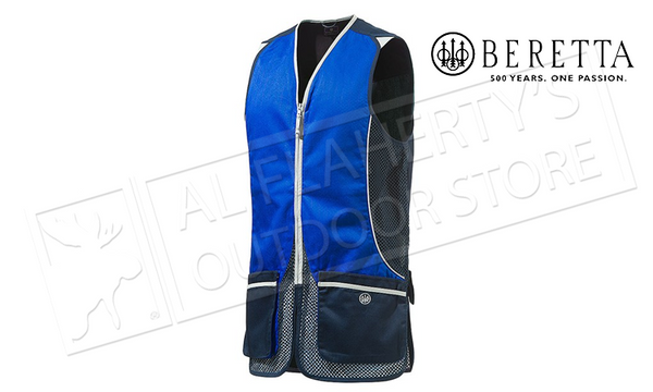 Beretta Silver Pigeon Shooting Vest P.V. Navy & Excel Blue, M-XXL #GT031021130545