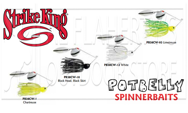 Strike King  PB38CW PotBelly Dual-Blade SpinnerBaits, 3/8 oz. Various Patterns