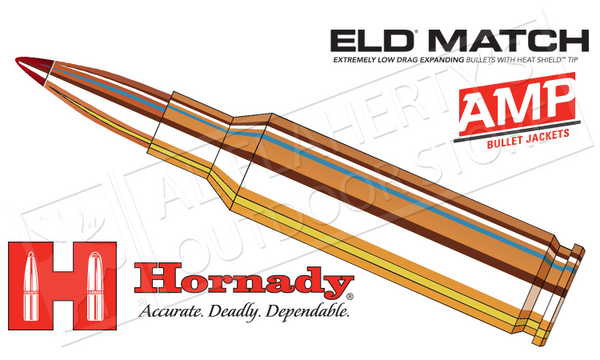 Hornady #81500 6.5 Creedmoor ELD Match, Polymer Tipped 140 Grain Box of 20