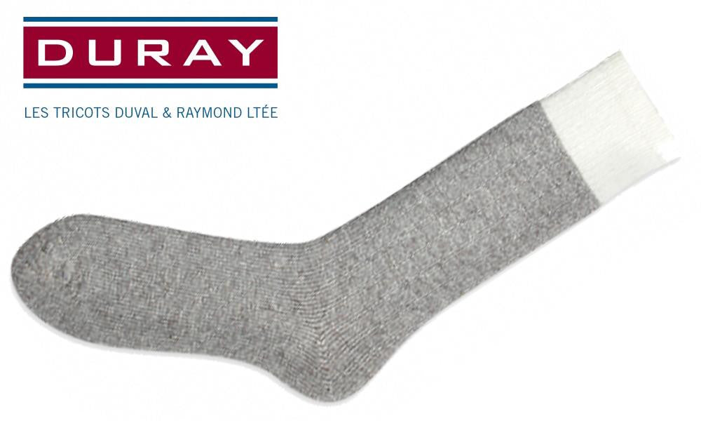 Duray Original Thermal Wool Sock, Natural Grey, Size Large #1250