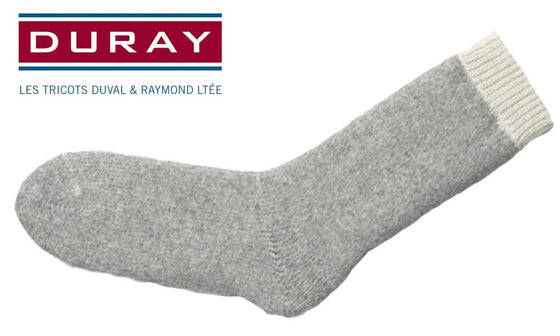 Duray Ultimate Thermal Wool Sock, Natural Grey, Size Large #1155