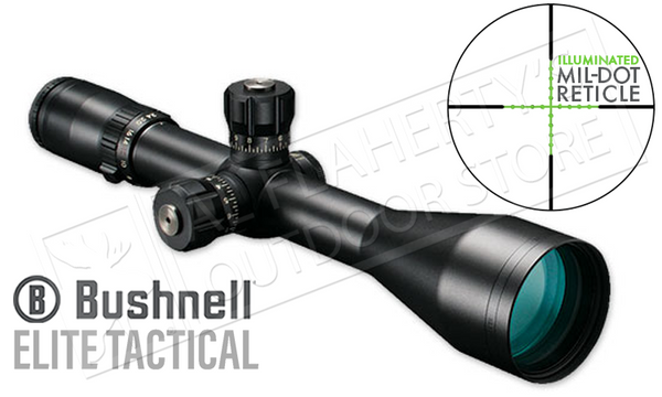Bushnell Elite Tactical ERS Scope 6-24x50mm with Illuminated Mil-Dot Reticle #ET6245F