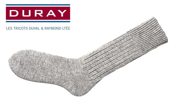 Duray 100% Wool Sock, Natural Grey, Size 11 #150