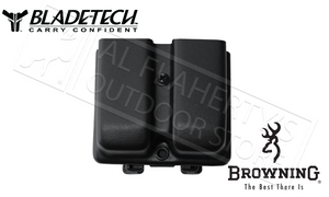Blade-Tech Double Mag Pouch, Browning Hi Power 9mm, w/Tek-Lok #AMMX002478644008
