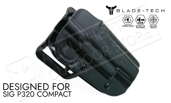 Blade-Tech Holster - OWB - SIG P320C LH, Stingray Loop #HOLX00082186430