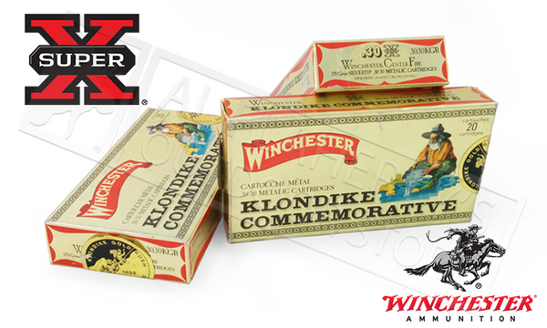 <b>(Limited Stock)</b><br>Winchester 30-30 WIN Super X Klondike Commemorative, Silvertip 170 Grain Box of 20 #3030KGR