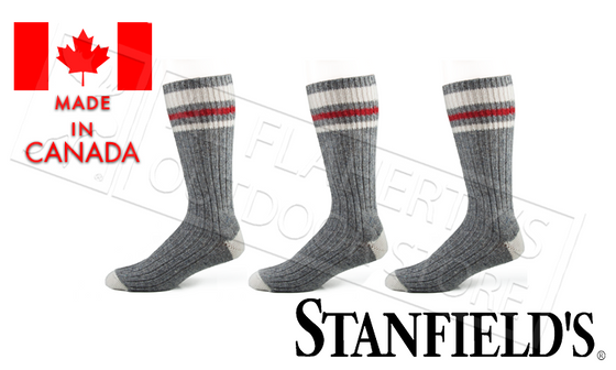 Stanfield's Work Socks, 70% Wool Blend, Fits Sizes 8-11, 3-Pack #5253