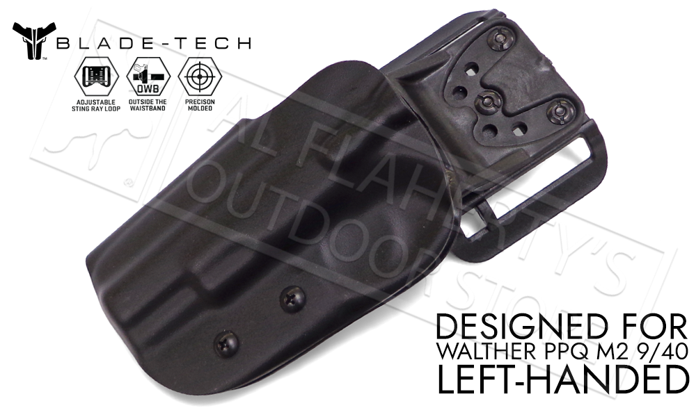 "Blade-Tech Original Holster for Walther PPQ M2 5"", Left-Handed D/OS with ASR Mount #HOLX000889032102"