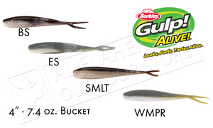 "GAFHPMI4 Berkley Gulp! Alive! Minnows 4"" 7.4 oz Bucket"