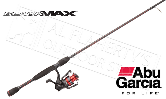 "Abu Garcia  #BMAXSP30/661M Black Max Spinning Combo, 6'6"" Medium Action 1-Piece"