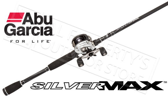 "Abu Garcia Silver Max 3 Combo Baitcasting Rod & Reel, 1-Piece 6'6"" Medium Power #SMAX3/661M"