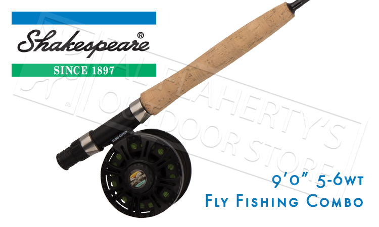 Shakespeare Shakespeare Cedar Canyon Premier Fly Fishing Combo, 9ft 4-Piece 5/6WT #CCPR9456WTCBO