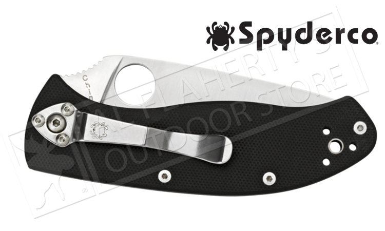 SpyderCo Tenacious G-10 Folding Knife, PlainEdge #C122PG