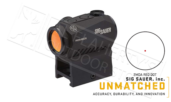 SIG Sauer Romeo5 Red Dot Sight, 2MOA 1x20mm #SIGPS0525001