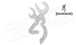 "Browning Buckmark Decal - Faline Spangle Silver 6"" Vinyl #3922220659"
