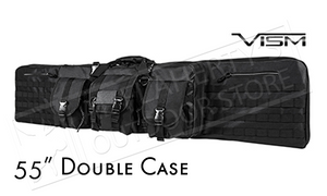 "VISM Double Carbine Case, 55"" Extra Long with Backpack Straps #CVDC2946B-55"