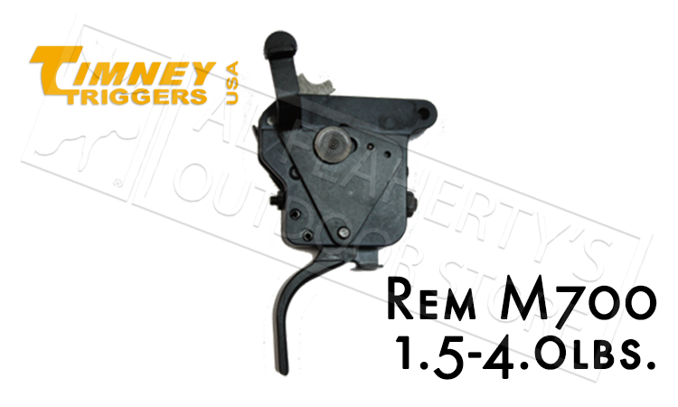 Timney Triggers Remington 700 Flat with Safety, 1.5-4 lbs #517