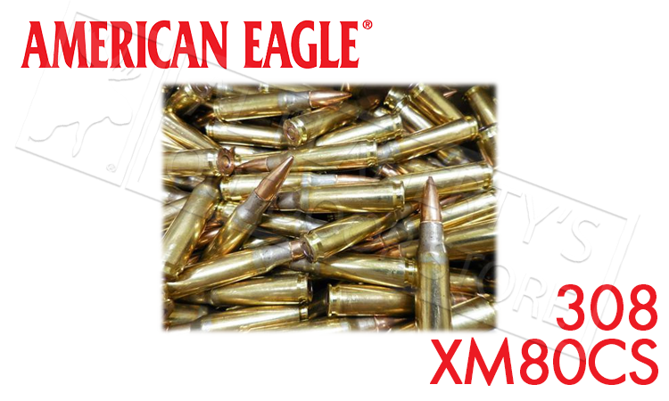 Federal American Eagle .308 / 7.62 NATO Ammunition XM80CS Case of 500