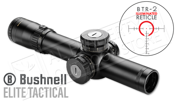 Bushnell Elite Tactical SMRS Scope 1-8.5x24mm with BTR-2 Reticle #ET18524