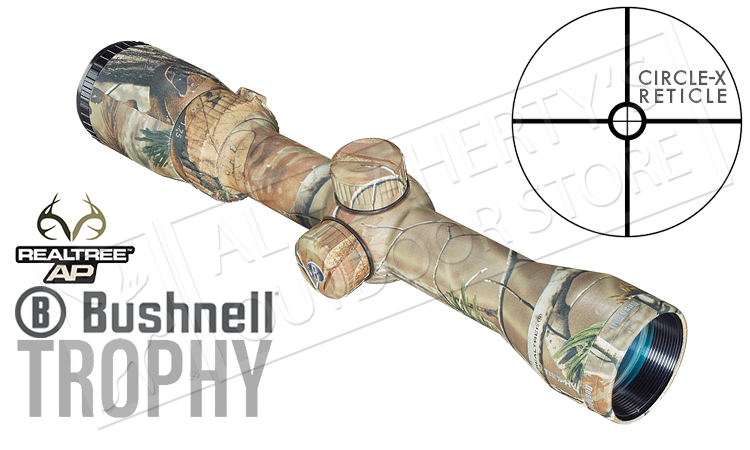 Bushnell Trophy Scope 1.75-4x32mm with Circle-X Reticle, Realtree AP Camo #751432AP